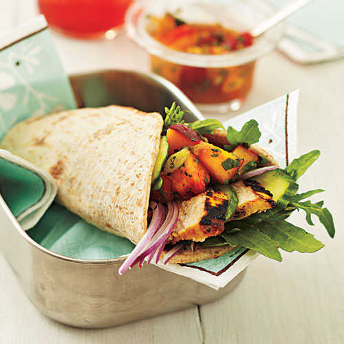 Curry Chicken Wraps with Nectarine Chutney Recipe