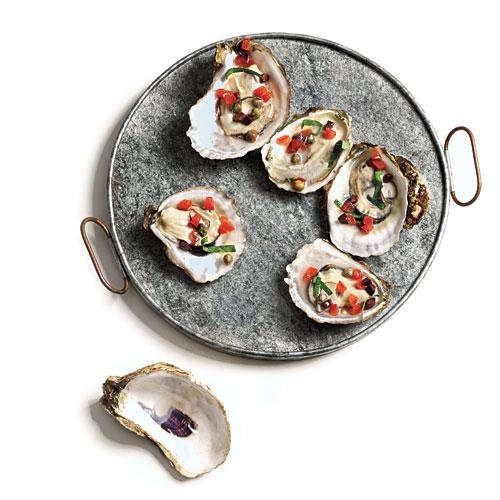 Smoked Oysters with Olive Relish Recipe
