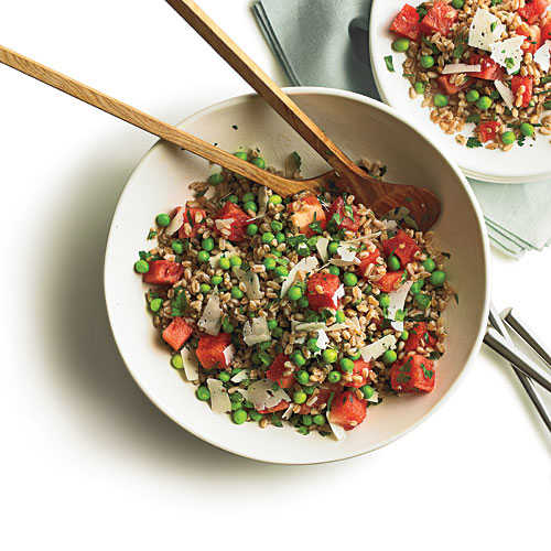 Summer Pea, Watermelon, and Farro Salad - 39 Whole-Grain Salads ...