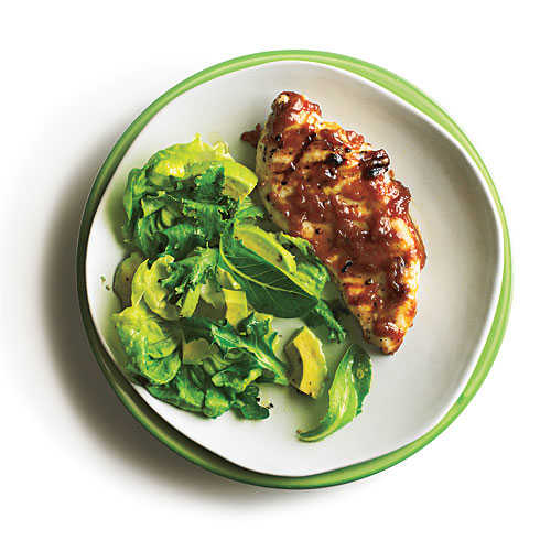 Grilled Chicken with Bourbon Peach Butter Recipe