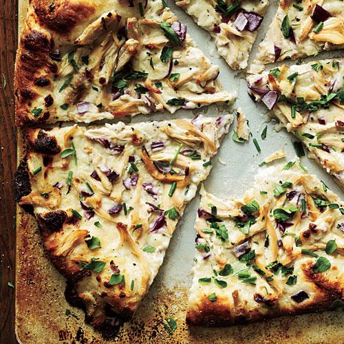 Healthy Chicken and Herb White Pizza Recipe