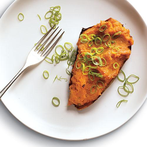 Twice-Roasted Sweet Potatoes with Chipotle Recipe