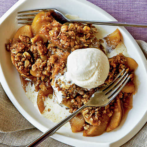 Maple-Walnut Apple Crisp Recipe