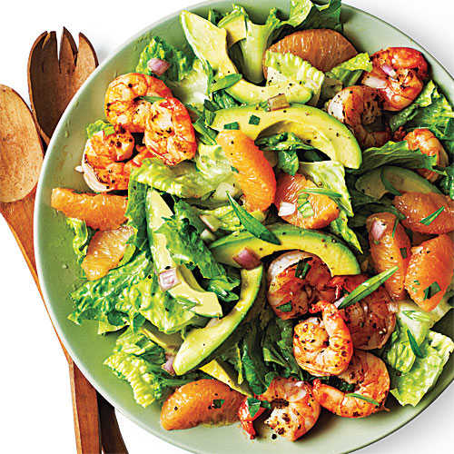 Shrimp, Avocado, and Grapefruit Salad Recipe