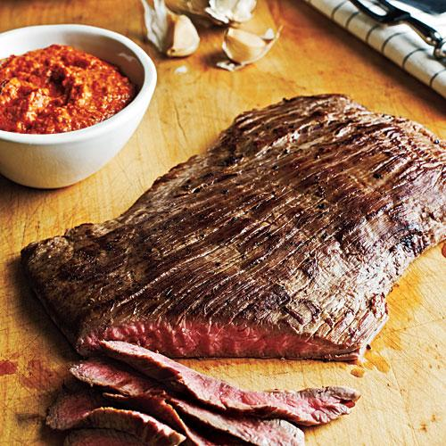 Flank Steak with Romesco Sauce Recipe