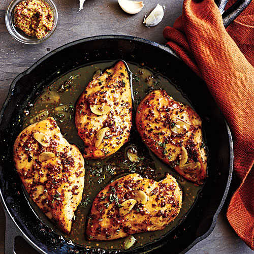 Maple-Mustard Glazed Chicken - Chicken Dinner Recipes ...