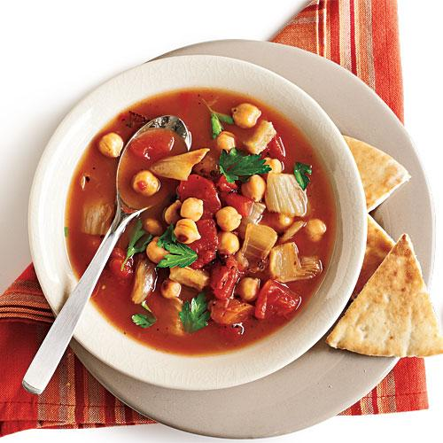 Roasted Fennel, Tomato, and Chickpea Soup