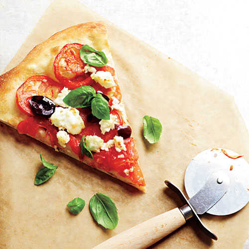 Fresh Tomato-Feta Pizza