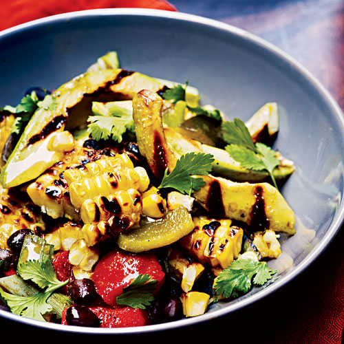 Grilled Corn, Poblano, and Black Bean Salad - Corn Recipes | Cooking ...