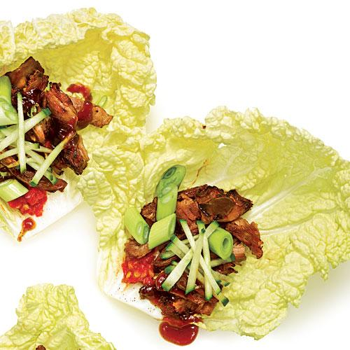 Sugar-Crusted Pork Cabbage Wraps
