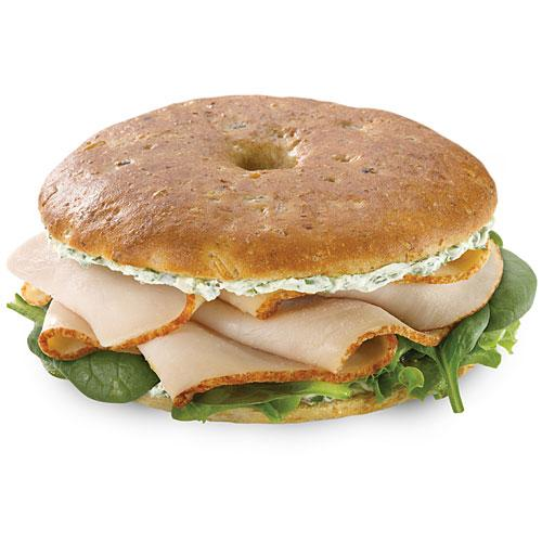 Einstein Bros Garden Herb Turkey Bagel Thin
