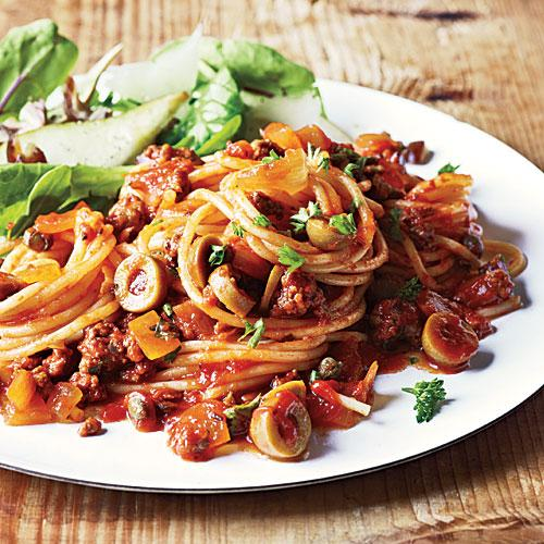 Spanish spaghetti with olives dinner tonight pasta for What can i make for dinner tonight