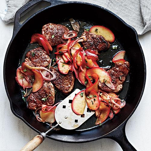 Spiced Pork Tenderloin with Sauteed Apples