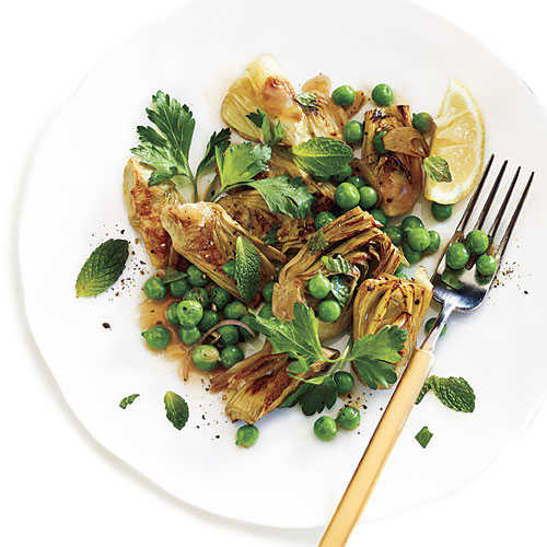 Artichoke and Pea Sauté