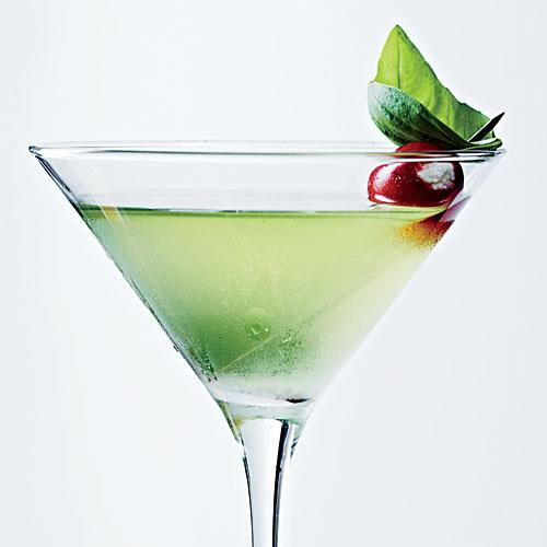 Sweet Basil Martini with Blue Cheese Tomatoes