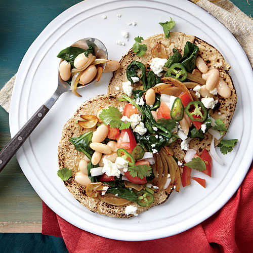 White Bean and Spinach Tacos