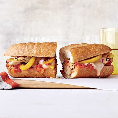 Cheesy Chicken and Pepper Subs
