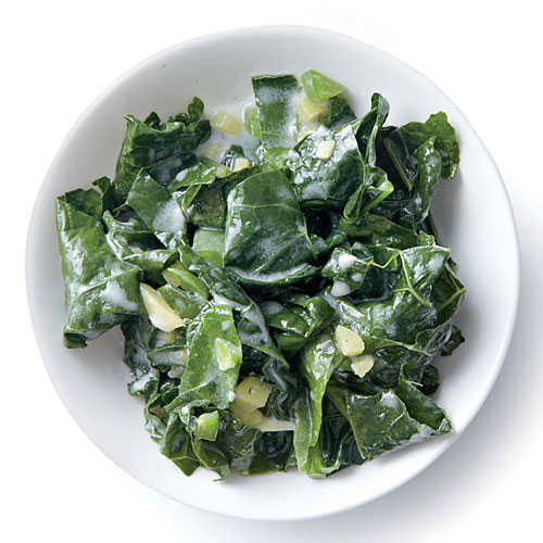 Wilted Kale with Coconut, Ginger, and Lime