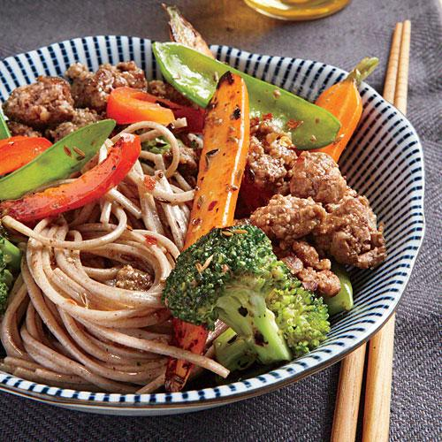 Soba Noodles with Spicy Cumin Lamb