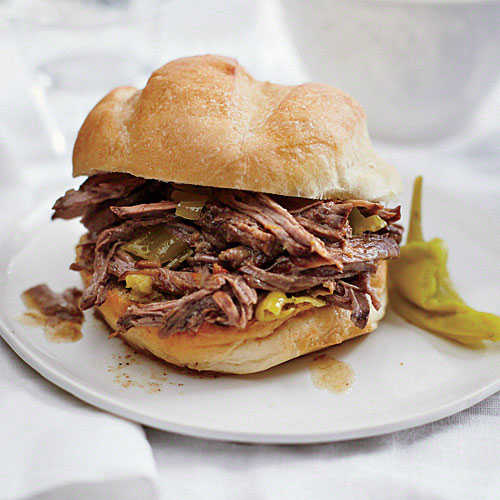 Tangy Italian Beef Sandwiches - MyPlate-Inspired Slow ...