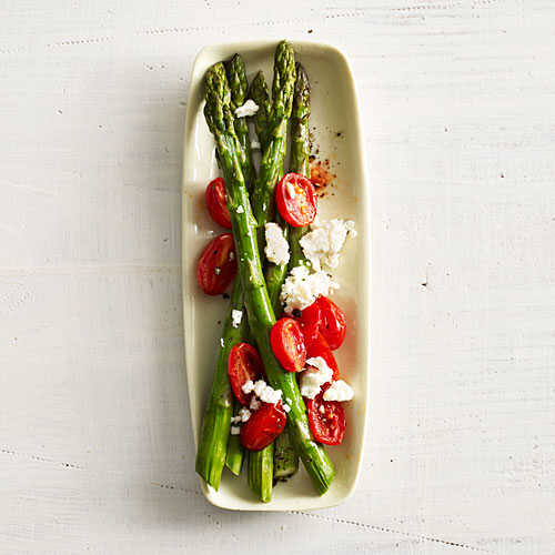 Asparagus with Tomato and Feta Recipe