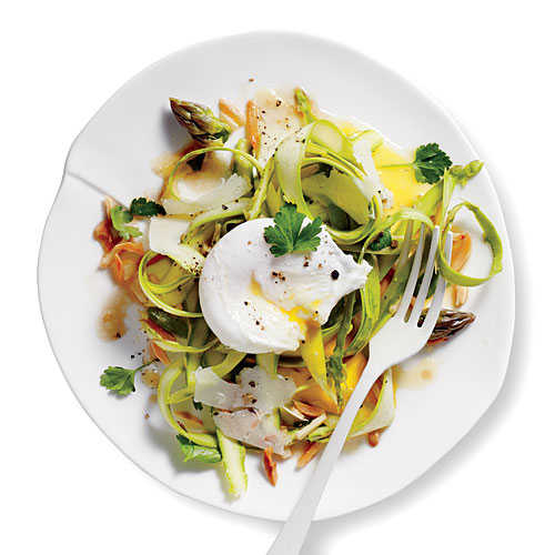 Shaved Asparagus Salad with Manchego and Almonds