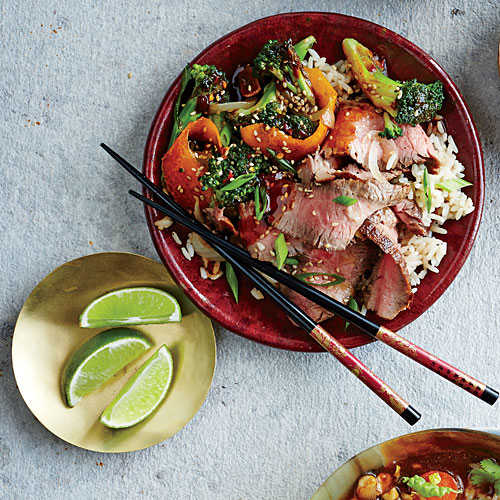 Five-Spice Orange Beef and Broccoli
