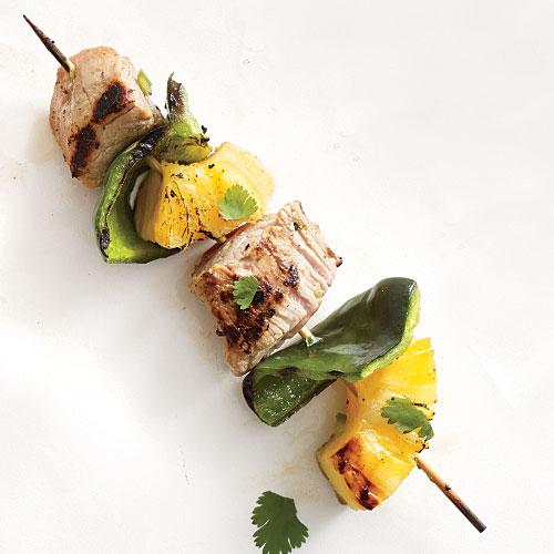 Pork and Pineapple Kebabs - Sizzling Kebab Recipes - Cooking Light