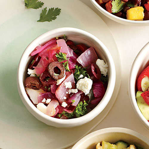 Red Onion, Olive, and Feta Salsa - Fresh Salsa Recipes - Cooking Light