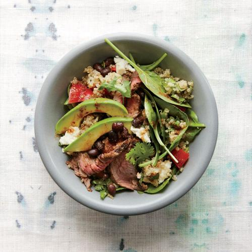 Black Bean Quinoa Salad with Chipotle Steak