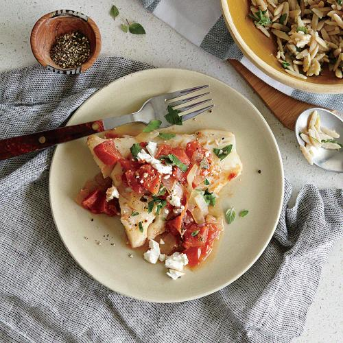 Baked Cod with Feta and Tomatoes