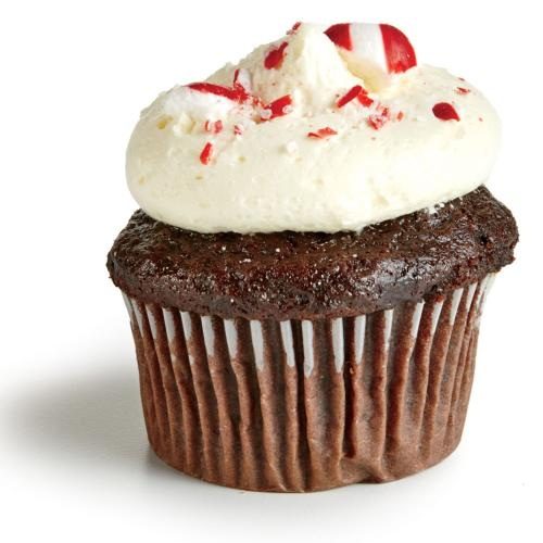 Chocolate Cupcakes with Peppermint Frosting