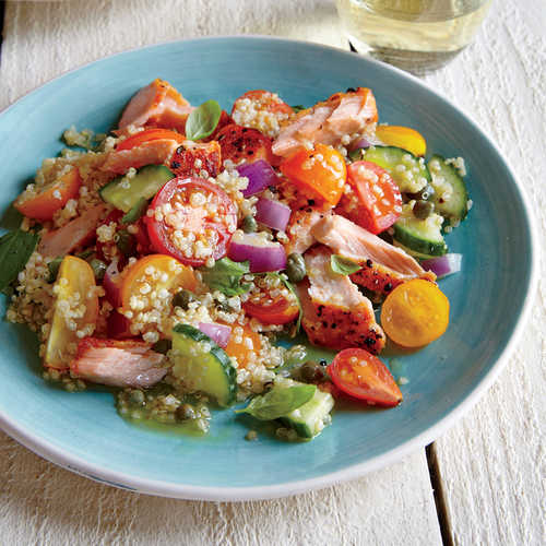 A Week Of Lightweight Nutritious Backpacking Food: Quinoa Panzanella With Wild Salmon