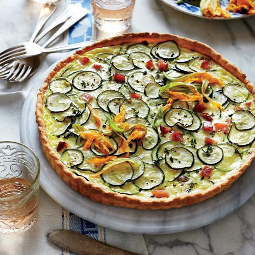 Zucchini and Goat Cheese Quiche - French Vegetable Cooking - Cooking ...