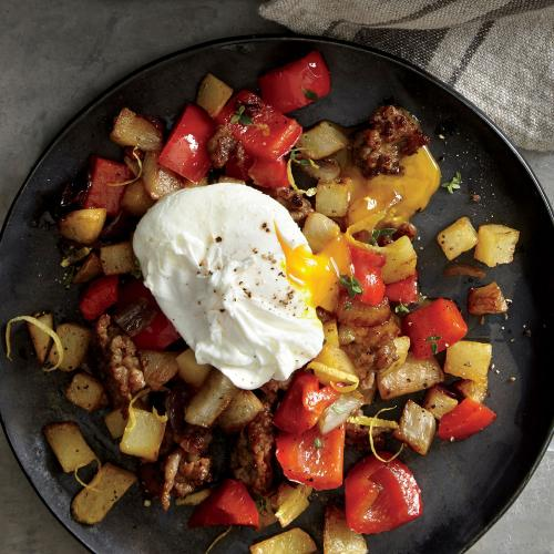Smoky Sunchoke, Sausage, and Pepper Hash - Buried Treasures: Our Best ...