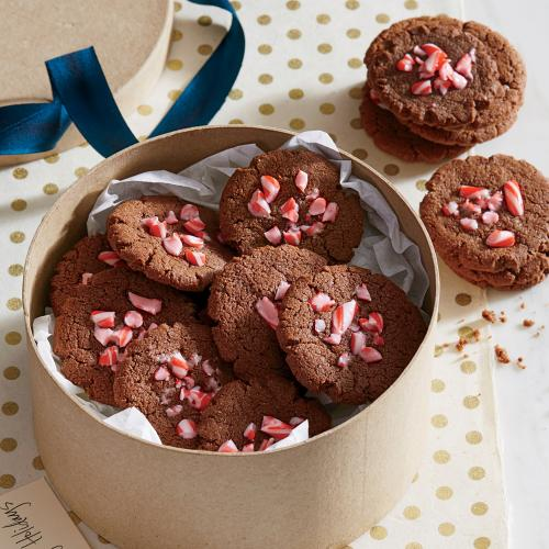 Fudgy Chocolate-Peppermint Cookies