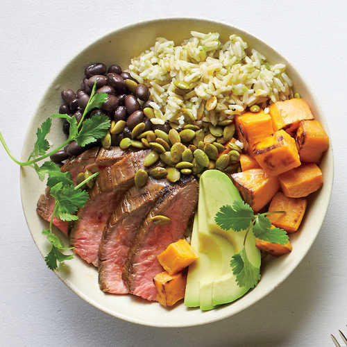 Peruvian Steak and Roasted Sweet Potato Bowl