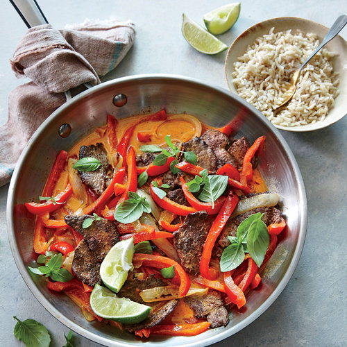 Spicy Thai Red Curry Beef - Superfast Beef Recipes - Cooking Light