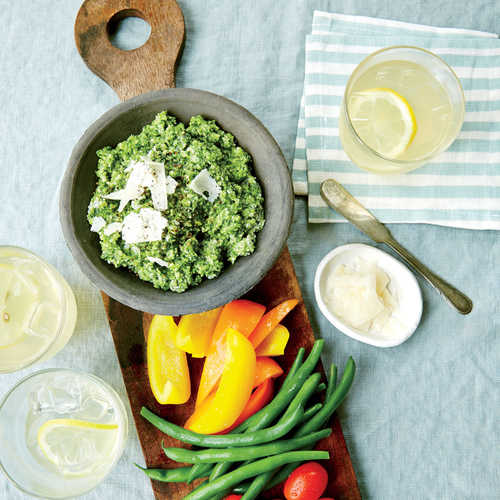 Zucchini Pesto with Crudités