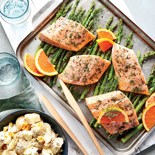 Dilly Salmon Packets with Asparagus - Dinner Tonight: Fish and ...