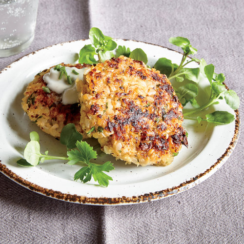 Cauliflower Risotto Cakes - Cauliflower Recipes | Cooking Light