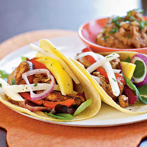 Fiesta Chicken Tacos with Mango and Jicama Salad Recipes