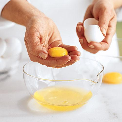 How to separate egg whites