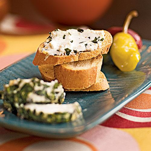 Herbed Goat Cheese - Diabetic Appetizers and Snacks | Cooking Light