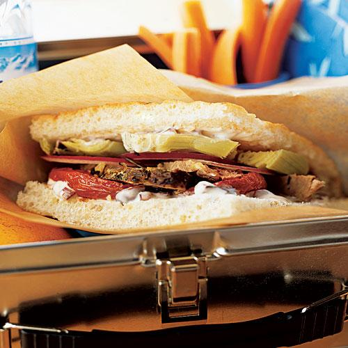 Lamb, Roasted Tomato, and Artichoke Sandwiches with Olive Spread Recipes