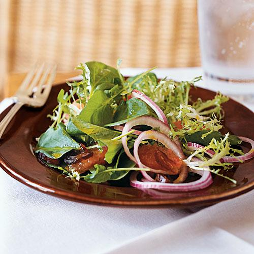 Watercress, Frisée, and Grapefruit Salad with Curry Vinaigrette Vegetarian Recipe