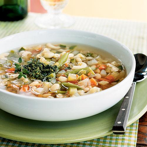 Vegetable Soup with Pistou Vegetarian Recipe