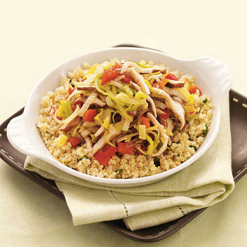 Quinoa with Leeks and Shiitake Mushrooms Vegetarian Pasta and Grains Recipe