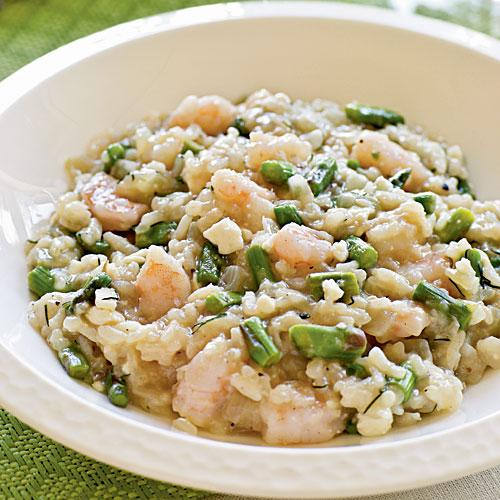 Greek Shrimp and Asparagus Risotto