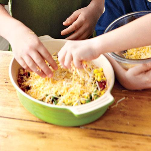 Kids' Party Bean Dip with Baked Tortillas